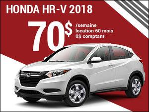 70$ par semaine pour rouler en Honda HR-V 2018 chez Avantage Honda à Shawinigan