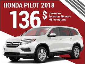 Le Honda Pilot 2018 à 136$ par semaine chez Avantage Honda à Shawinigan