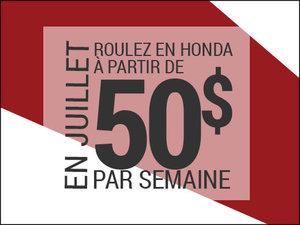 Roulez en Honda à partir de 50$ par semaine chez Avantage Honda à Shawinigan