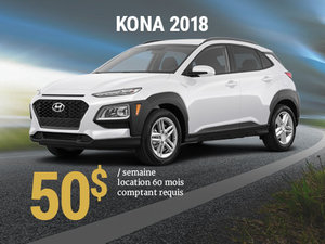 Seulement 50$/semaine pour un Hyundai Kona 2018 chez Hyundai Shawinigan à Shawinigan