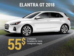 Roulez en Hyundai Elantra GT 2018 pour 55$/sem. chez Hyundai Shawinigan à Shawinigan