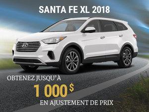 Achetez un Hyundai Santa Fe XL 2018 et obtenez jusqu'à 1 000$ en ajustement de prix chez Hyundai Trois-Rivières à Trois-Rivières
