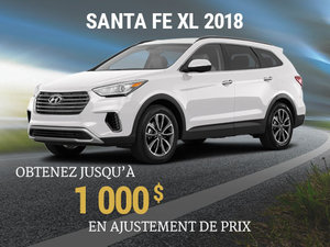 Achetez un Hyundai Santa Fe XL 2018 et obtenez jusqu'à 1 000$ en ajustement de prix chez Hyundai Shawinigan à Shawinigan