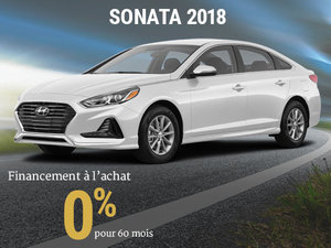 0% d'intérêt pour la Hyundai Sonata 2018 chez Hyundai Trois-Rivières à Trois-Rivières