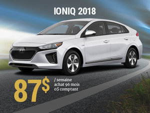 Roulez pour la planète avec le Hyundai IONIQ 2018 pour 87$/sem. chez Hyundai Shawinigan à Shawinigan