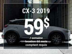 Roulez en Mazda CX-3 2019 à partir de 59$/sem chez Prestige Mazda à Shawinigan