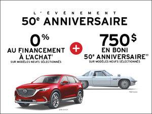 0% financement à l'achat + BONI de 750$ chez Prestige Mazda à Shawinigan