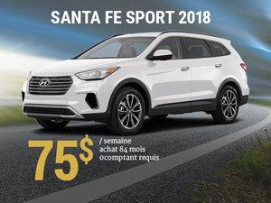 Seulement 75$/semaine pour un Hyundai Santa Fe Sport 2018 chez Hyundai Trois-Rivières à Trois-Rivières