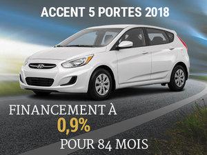 Roulez en Hyundai Accent 5 portes 2018 sur 84 mois chez Hyundai Trois-Rivières à Trois-Rivières