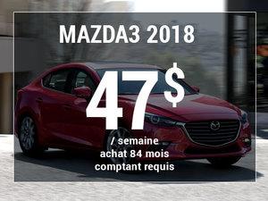 Roulez en Mazda3 2018 à partir de 47$ / semaine chez Prestige Mazda à Shawinigan