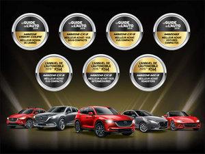 Récompenses Guide de l'auto 2019 chez Prestige Mazda à Shawinigan