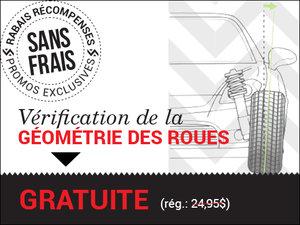 VÉRIFICATION DE LA GÉOMÉTRIE DES 4 ROUES SANS FRAIS chez Hyundai Trois-Rivières à Trois-Rivières