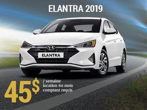 Roulez avec la nouvelle Hyundai Elantra Essential manuelle 2019 pour seulement 45$/sem chez Hyundai Shawinigan à Shawinigan