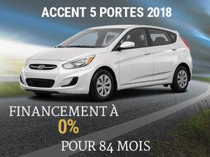 Roulez en Hyundai Accent 5 portes 2018 sur 84 mois chez Hyundai Shawinigan à Shawinigan