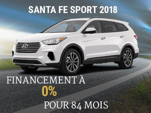 Financement à 0% pour le  Hyundai Santa Fe Sport 2018 chez Hyundai Shawinigan à Shawinigan