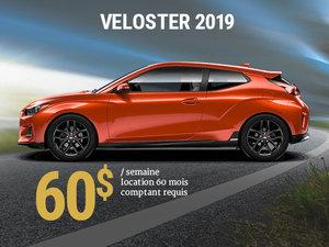 Seulement 60$ par semaine pour le Hyundai Veloster 2019 chez Hyundai Shawinigan à Shawinigan