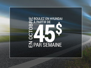 Roulez en Hyundai à partir de 45$ par semaine chez Hyundai Shawinigan à Shawinigan