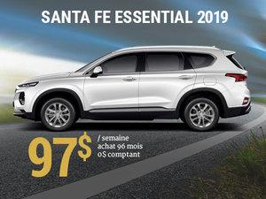 Achetez le nouveau Hyundai Santa Fe Essential 2019 pour à partir de 97$/sem. chez Hyundai Shawinigan à Shawinigan