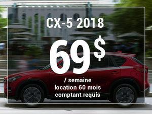 Un Mazda CX-5 2018 à partir de 69$ par semaine chez Prestige Mazda à Shawinigan