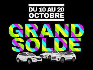 GRAND SOLDE DE L'AUTOMNE GROUPE VINCENT chez Hyundai Shawinigan à Shawinigan