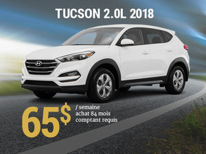 Offrez vous le Hyundai Tucson 2018 pour 65$/sem. chez Hyundai Trois-Rivières à Trois-Rivières