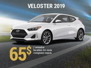 Seulement 65$ par semaine pour le Hyundai Veloster 2019 chez Hyundai Trois-Rivières à Trois-Rivières