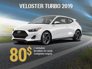 Seulement 80$ par semaine pour le Hyundai Veloster TURBO 2019 chez Hyundai Trois-Rivières à Trois-Rivières