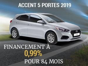 Roulez en Hyundai Accent 5 portes 2019 sur 84 mois chez Hyundai Shawinigan à Shawinigan