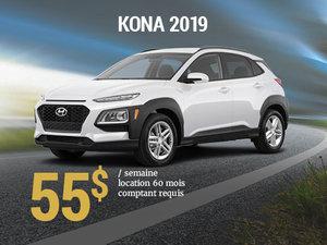 Seulement 55$/semaine pour un Hyundai Kona 2019 chez Hyundai Shawinigan à Shawinigan