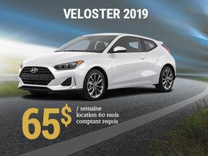 Seulement 65$ par semaine pour le Hyundai Veloster 2019 chez Hyundai Shawinigan à Shawinigan