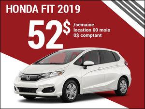 Une Honda Fit 2019 pour 52$ par semaine chez Avantage Honda à Shawinigan