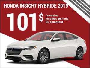 101$ par semaine pour la Honda Insight Hybride 2019 chez Avantage Honda à Shawinigan