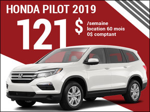 Le Honda Pilot 2019 à 121$ par semaine chez Avantage Honda à Shawinigan