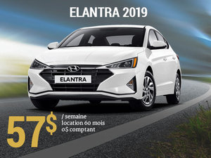 Roulez avec la nouvelle Hyundai Elantra Essential manuelle 2019 pour seulement 57$/sem chez Hyundai Trois-Rivières à Trois-Rivières