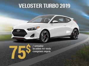 Seulement 75$ par semaine pour le Hyundai Veloster TURBO 2019 chez Hyundai Trois-Rivières à Trois-Rivières