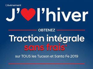 Traction intégrale SANS FRAIS sur TOUS les Tucson et Santa Fe 2019 chez Hyundai Trois-Rivières à Trois-Rivières
