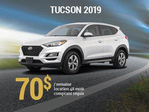 Roulez avec le tout nouveau Hyundai Tucson 2019 à partir de seulement 70$/sem. chez Hyundai Shawinigan à Shawinigan