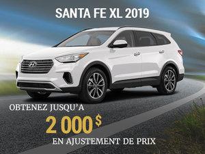 Jusqu'à 2 000$ en ajustement de prix pour achetez un Hyundai Santa Fe XL 2019 chez Hyundai Shawinigan à Shawinigan