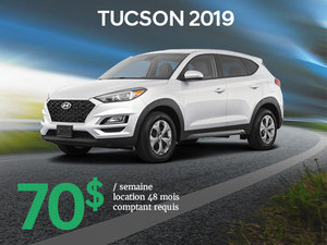 Roulez avec le tout nouveau Hyundai Tucson 2019 à partir de seulement 70$/sem. chez Hyundai Trois-Rivières à Trois-Rivières