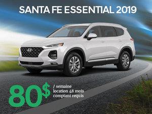 Roulez en Hyundai Santa Fe Essential 2019 à partir de 80$/sem. chez Hyundai Trois-Rivières à Trois-Rivières