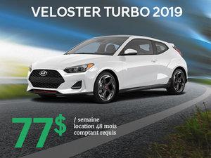 Seulement 77$ par semaine pour le Hyundai Veloster TURBO 2019 chez Hyundai Trois-Rivières à Trois-Rivières