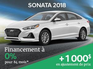 Financement à 0% sur la Hyundai Sonata 2018 + ajustement de prix de 1000$! chez Hyundai Trois-Rivières à Trois-Rivières