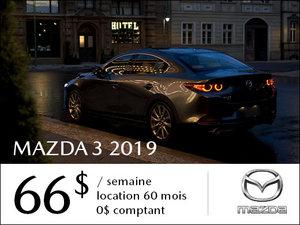 Roulez en Mazda3 2019 à partir de 66$ / semaine chez Prestige Mazda à Shawinigan