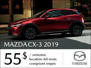 Roulez en Mazda CX-3 2019 à partir de 55$/sem chez Prestige Mazda à Shawinigan