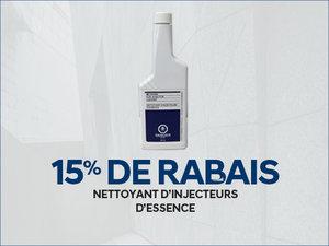 15% de RABAIS sur nettoyant d'injecteurs d'essence chez Groupe Vincent à Shawinigan et Trois-Rivières