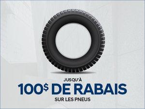 Jusqu'à 100$ de RABAIS sur les pneus! chez Groupe Vincent à Shawinigan et Trois-Rivières