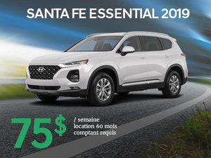 Roulez en Hyundai Santa Fe Essential 2019 à partir de 75$/sem. chez Hyundai Trois-Rivières à Trois-Rivières