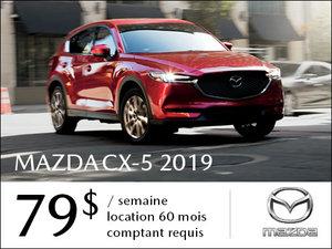 Un Mazda CX-5 2019 à partir de 79$ par semaine chez Prestige Mazda à Shawinigan
