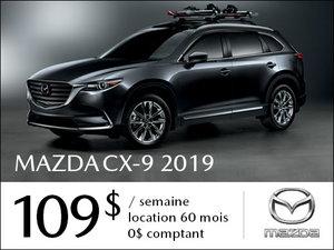 Un Mazda CX-9 2019 à partir de 109$ par semaine chez Prestige Mazda à Shawinigan