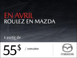 En avril, roulez en Mazda à partir de seulement 55$ par semaine! chez Prestige Mazda à Shawinigan